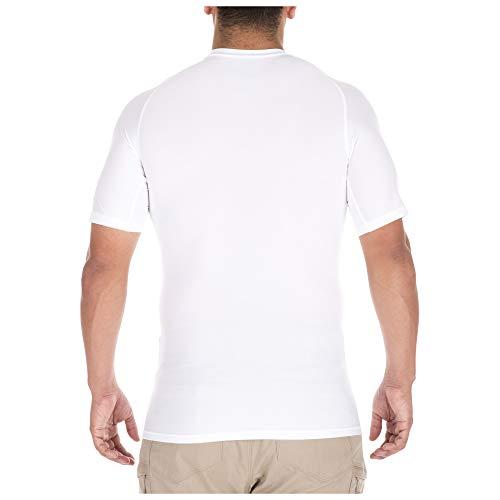 ajustada Camisa 11 de blanca para corta 5 manga hombre 5Y1w6nqZ