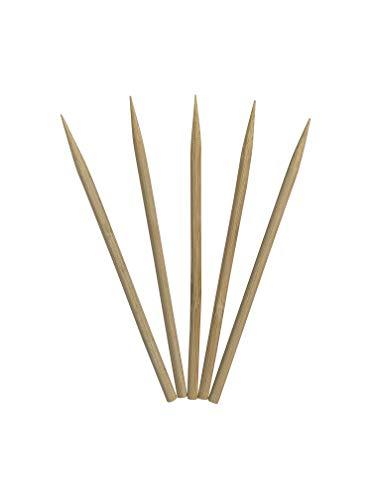 KingSeal Natural Bamboo Wood Meat Skewers, Kebab Sticks - 4.5 Inches, 3.5mm Diameter, 1000 Count ()