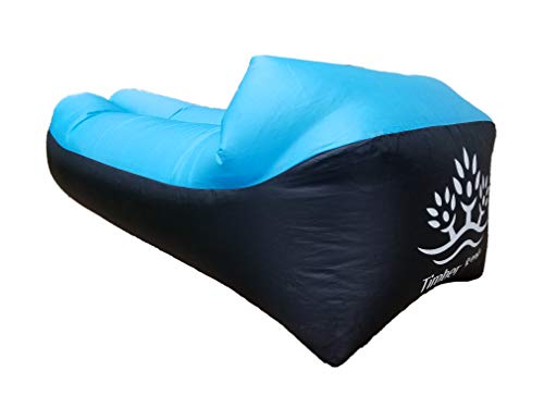 Timber Creek Inflatable Lounger, Blow up Couch, Air Sofa, Hammock, Portable, Use Indoor or Outdoor to Hike, Camping, at Beach, Picnics, Festivals, Backyard, Lake