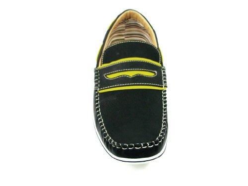 Heren 30222 Two Tone Penny Loafer Casual Schoenen Zwart