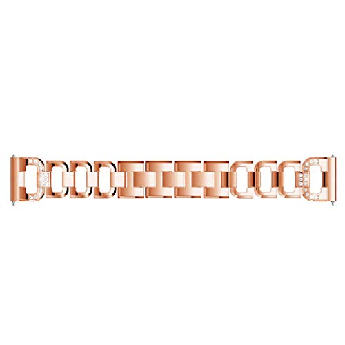 Finedayqi ❤ Replacement Metal Crystal Watch Strap Wrist Band for Huawei Watch GT (Rose Gold) by Fineday (Image #4)