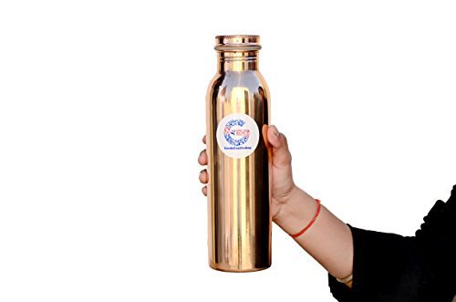 Pure Copper Water Bottle 950 ml Leak Proof Bottle for Ayurvedic Health Benefits by Goodshealthshop