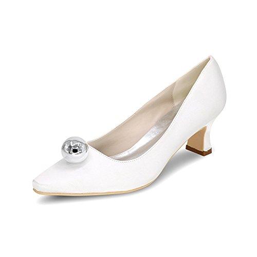 L@YC Frauen wies Hochzeitsschuhe Komfortable High-Heeled große Größe Benutzerdefinierte 0723-01F Vielzahl von Farben White