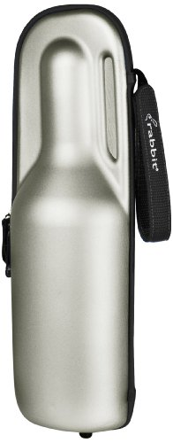Rabbit Wine Trek Portable Bottle Cooler (Silver and Black)