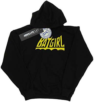 Absolute Cult DC Comics Herren Batgirl Logo Kapuzenpullover Schwarz Medium
