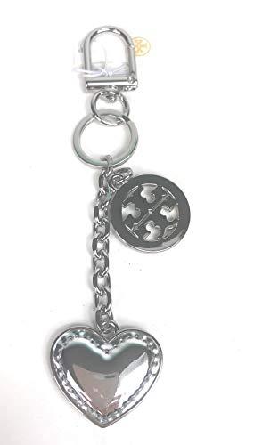 Tory Burch LOGO And Heart Keychain Key FOB Silver (Keychain Tory Burch)