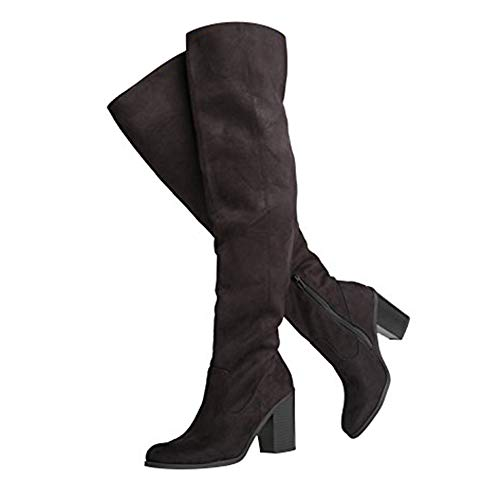 Avalon Over The Knee High Heel Boot, Black IMSU, 7 B(M) US