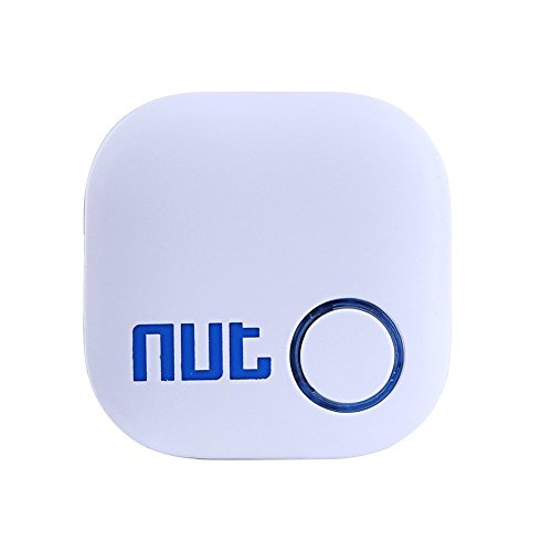 (As a Nice Gift) TaoFilm Pro Smart Tag Nut 2 Bluetooth Two-Way Anti Lost Tracker Tracking Wallet Key Tracer Finder Alarm Patch GPS Locator Finder for iOS | iPhone | iPod | iPad | Android (White) (Key Nut Pro)