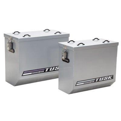 (Tusk Aluminum Panniers Large Silver)