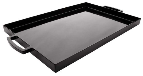 - Zak Designs 19.5in x 11.5in Large MeeMe Serving Tray, Black LT