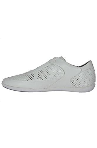 Hugo Boss City Dot Mens Sneakers Stringate In Pelle Bianca 50298176 100 Pennino (9)