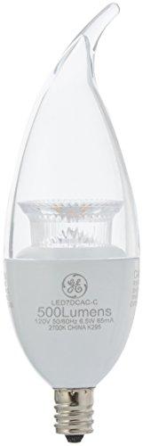 GE Equivalent Candelabra Dimmable Lightbulb
