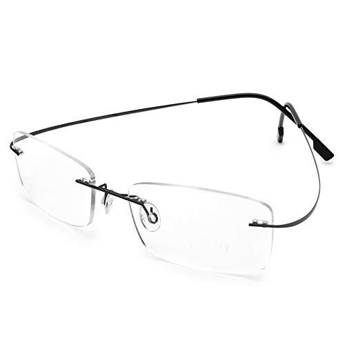 - Flexible Titanium Rimless Transition Bifocal Reading Glasses +2.75 Strength Men Women Photochromism Gray Readers Eyeglasses