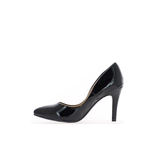 9,5 cm tagliente tacco alto donna nera polacca pompe