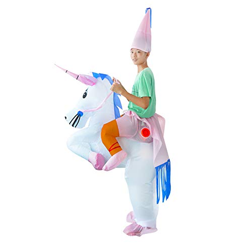 Inflatable Unicorn Rider Costume | Inflatable Costumes For Adults Or Child | Halloween Costume | Blow Up Costume ()