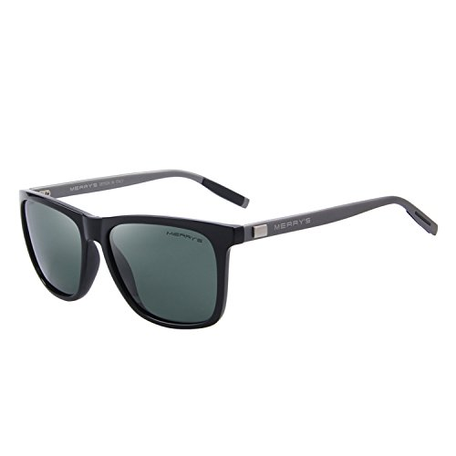 MERRY'S Unisex Polarized Aluminum Sunglasses Vintage Sun Glasses For Men/Women S8286 (Green, ()