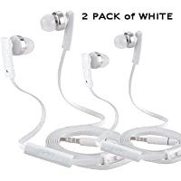 Take (2 Pack) Beat & Kick Universl Handsfree Super Bass Stereo Earbud Headphones with Microphone for Tablets, Smart... occupation