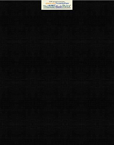 15 Black Linen 80# Cover Paper Sheets - 11