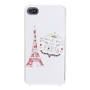 GDW Eiffel Tower Case Versión dura para el iPhone 4/4S
