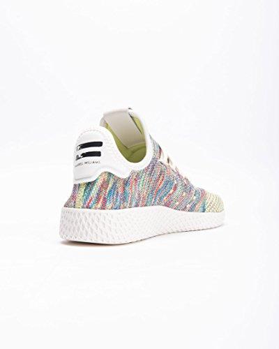 Adidas Originaler Pharrell Williams Tennis Hu Pimeknit Sko Mænds Tilfældige 7,5 Hi Res Grøn-kridt Lilla-koral