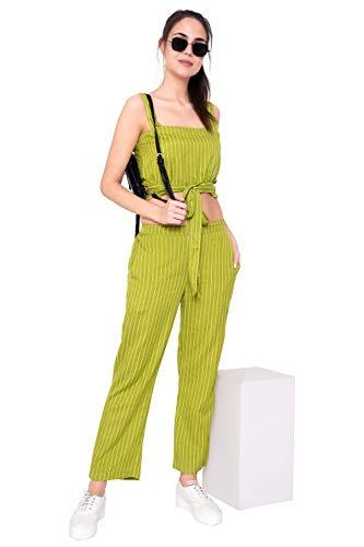 GOD BLESS Khadi Striped Casual Women's Jump Suit/Dress/Western Dress
