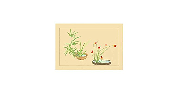 Amazon Com Bamboo Narciso Y Lily Impresión Lienzo 24 X 36 Home Kitchen