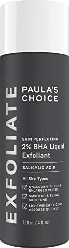 - Paulas Choice--SKIN PERFECTING 2% BHA Liquid Salicylic Acid Exfoliant--Facial Exfoliant for Blackheads, Enlarged Pores, Wrinkles & Fine Lines, 4 oz Bottle