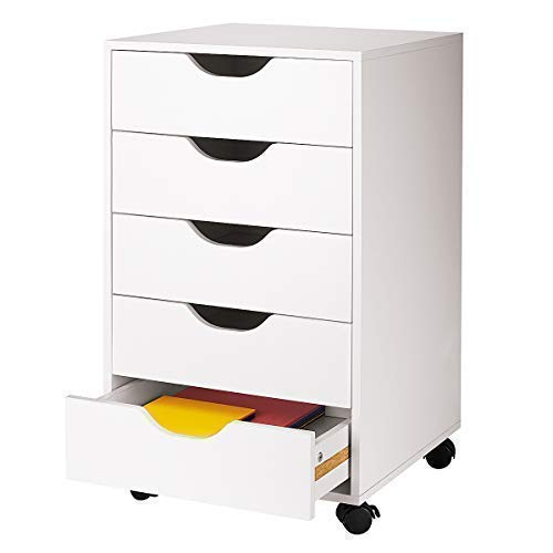 5 Drawer Letterpress Cube by - Storage White Drawer