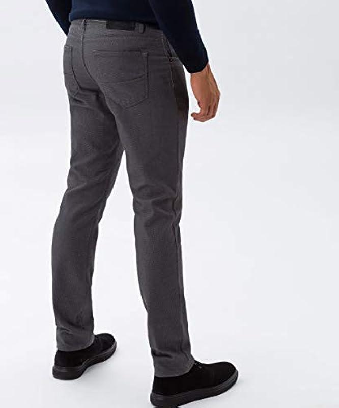 BRAX Męskie Style Two Tone Five Pocket płaskie spodnie z tkaniny: Odzież