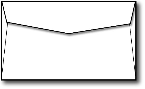 "Blank White Envelopes (5"" X 3 5/8"") - Fits Note Cards up to 4 7/8"" X 3 1/2"" - 100 Envelopes"