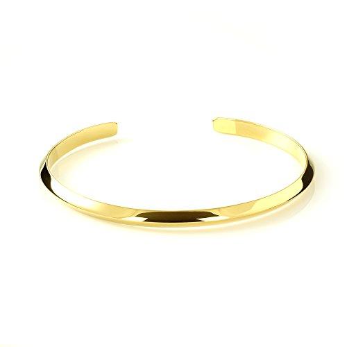 Mgd, 7mm de large Fil de triangle Tour de Bras réglable haut du bras Bracelet, Doré Laiton, taille unique, bijoux tendance pour femme, Je-0212m