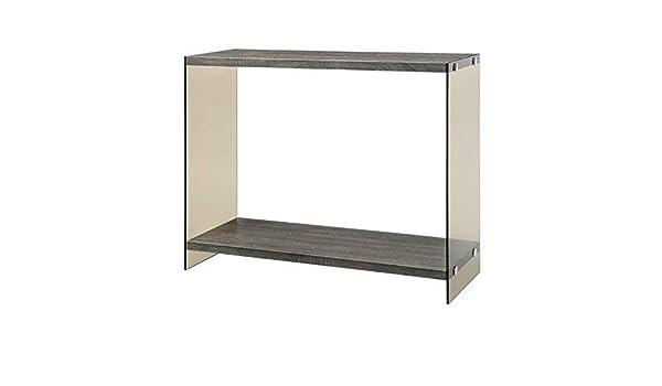 amazon com coaster home furnishings sofa table with glass sides rh amazon com distressed grey sofa table grey sofa white table