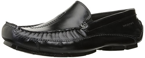 Mocassino Slip-on Da Uomo Luxury Rockport In Pelle, Nero
