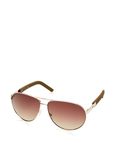 Guess Men's Designer Sunglasses, Gold/Brown Gradient, - Guess Sunglasses Polarized
