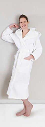 HNL - Albornoz - para mujer gris plateado Large Blanco