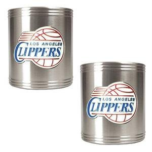 NBA Los Angeles Clippers Two Piece Stainless Steel Can Holder Set - Primary ()