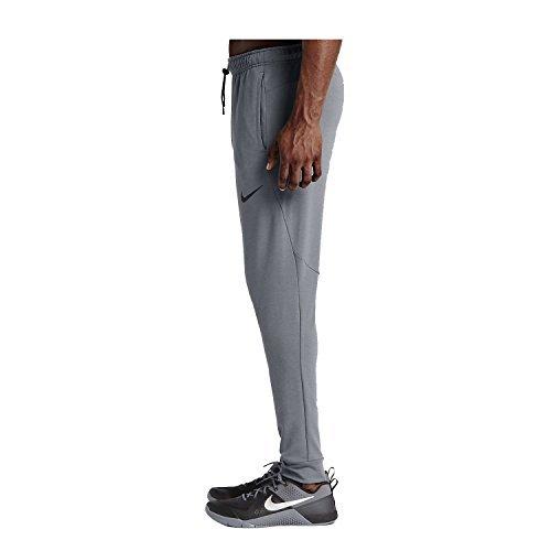 NIKE Men's Dry Regular Fleece Pants, Charcoal Heather/Black, XX-Large