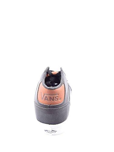 Vans Chapman Mid, Zapatillas de Entrenamiento para Hombre Negro (Leather)