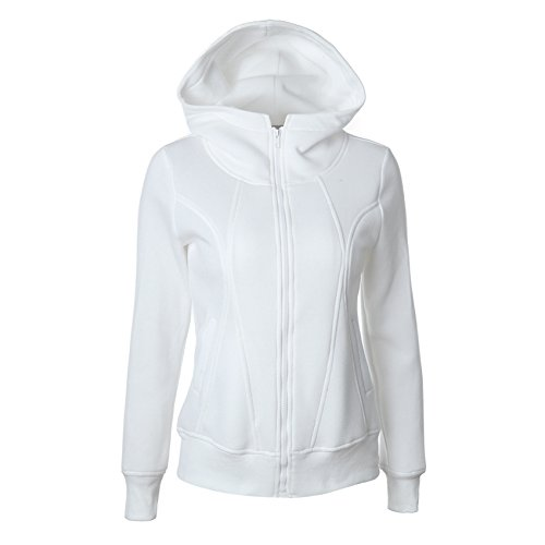 Women's Long Sleeve Comfy Warm Knitted Casual Zip-Up - Zip Up Over Face Hoodies
