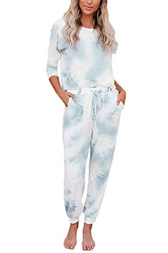Fixmatti Women Two Piece Outfit Matching Leisure Set Casual Sweatsuits Tracksuit