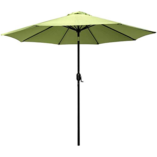 ABBLE Outdoor Patio Umbrella 9 Ft with Tilt and Crank, Weather Resistant, UV Protective Umbrella, Durable, 8 Sturdy Steel Ribs, Market Outdoor Table Umbrella, Lime Green (Table Coffee Portofino)