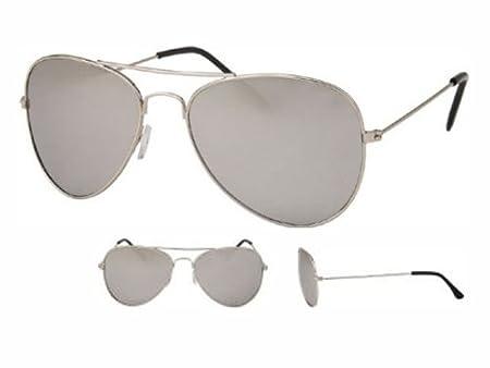 ae2883eff5 Retro 80s Sunglasses Goggles Glasses Sunglasses Aviator Viper Silver ...