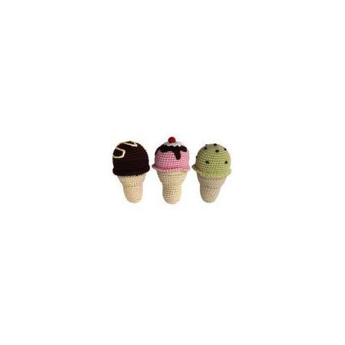 (Cheengoo - Organic Baby Rattle - Ice Cream Cone)