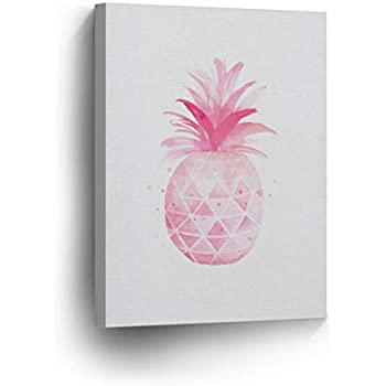 tropical home decor items amazon com pineapple decor pink tropical fruit canvas print  pineapple decor pink tropical fruit