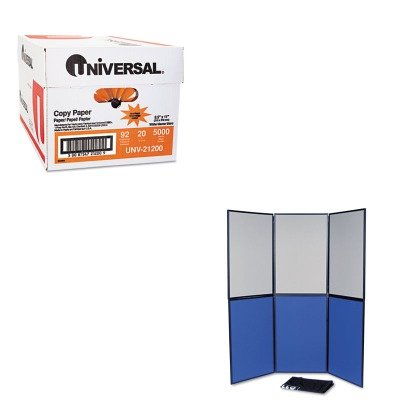 KITQRTSB93516QUNV21200 - Value Kit - Quartet ShowIt Six-Panel Display System (QRTSB93516Q) and Universal Copy Paper - Panel System Display 6