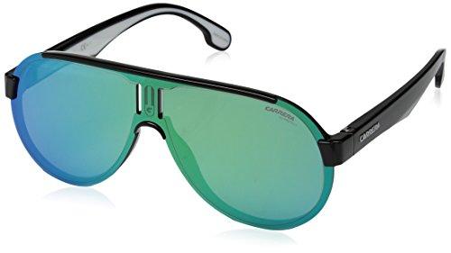 Carrera Unisex-Adult Carrera 1008/s Aviator Sunglasses, BLACK, 99 mm (Carrera Sonnenbrillen Garantie)