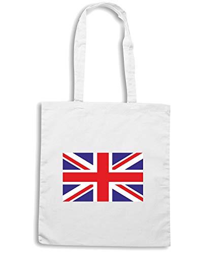 KINGDOM FLAG UNITED Bianca Borsa TM0261 Shopper wAxqF4xIH