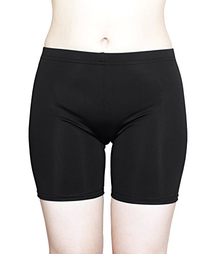 Cocoship Black Ladies Boyleg UPF 50+ Bikini Bottom Tankinis Multipurpose Swim Sport Short S(FBA)