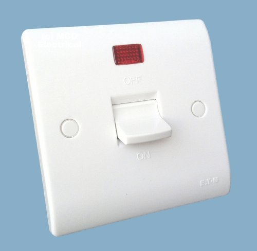 Isolator Plate (Eaton Premera P422N DP Shower / Cooker Isolator Switch with Neon 50A Double Pole (1 gang Plate) by Eaton Premera)