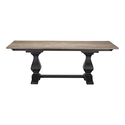 Ethan Allen Cameron Rustic Trestle Dining Table, Dakota With Mesquite Cameron Dining Table